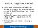 what is college goal sunday1
