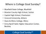 where is college goal sunday