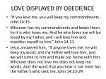 love displayed by obedience