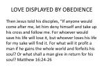love displayed by obedience1