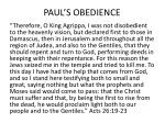 paul s obedience