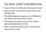 the issue christ s resurrection1