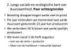 2 langs sociale en ecologische kant van duurzaamheid paar achtergronden3