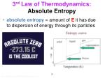 3 rd law of thermodynamics absolute entropy