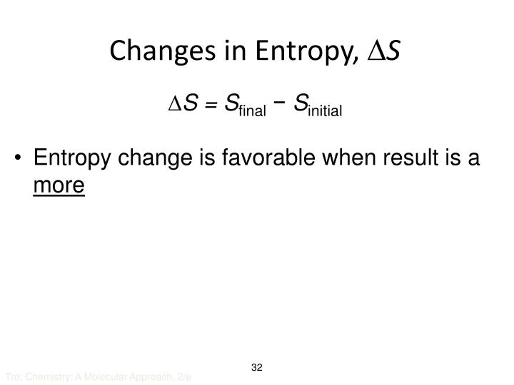 Changes in Entropy,