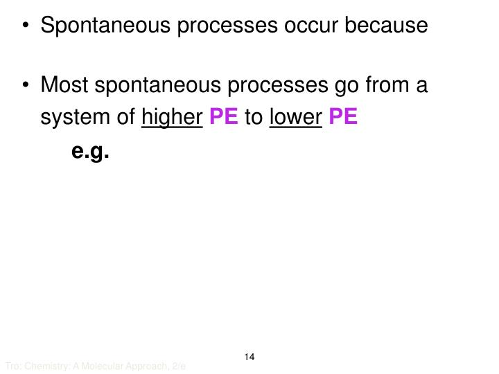 Spontaneous processes occur because
