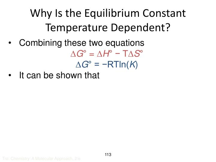 Why Is the Equilibrium Constant Temperature Dependent?