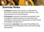 exercise roles