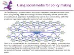 using social media for policy making