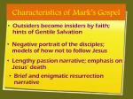 characteristics of mark s gospel2
