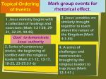 topical ordering of events