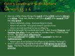 god s covenant with abram genesis 15 1 6