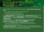 hagar gives birth to ishmael genesis 16 13 16