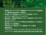 review genesis 11 27 12 10