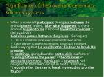 significance of the covenant ceremony genesis 15 10 21