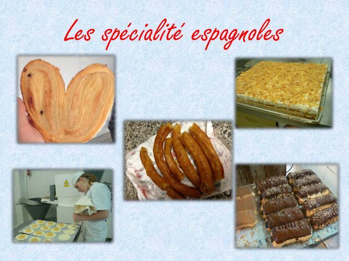 Les spécialité espagnoles