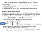 computation of sediment transport rates induced by waves