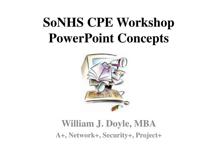 sonhs cpe workshop powerpoint concepts n.