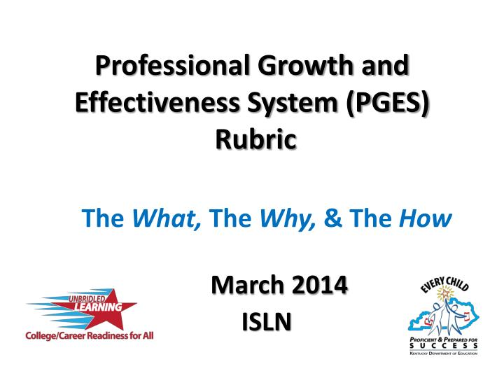 professional growth and effectiveness system pges rubric n.
