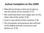 joshua complains to the lord