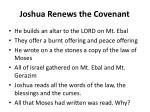 joshua renews the covenant1