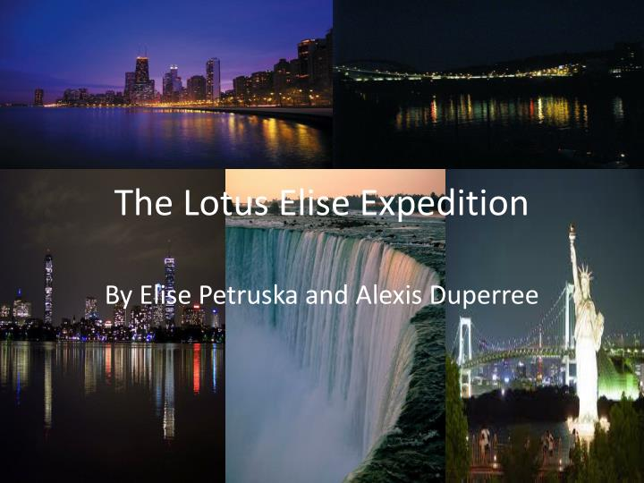 the lotus elise expedition n.