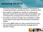activating the epoa
