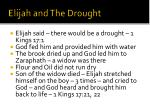 elijah and the drought