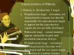 characteristics of puberty2