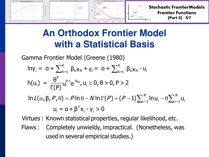 An Orthodox Frontier Model