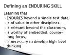 defining an enduring skill
