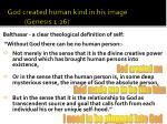 god created human kind in his image genesis 1 26