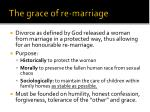 the grace of re marriage