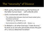 the necessity of divorce
