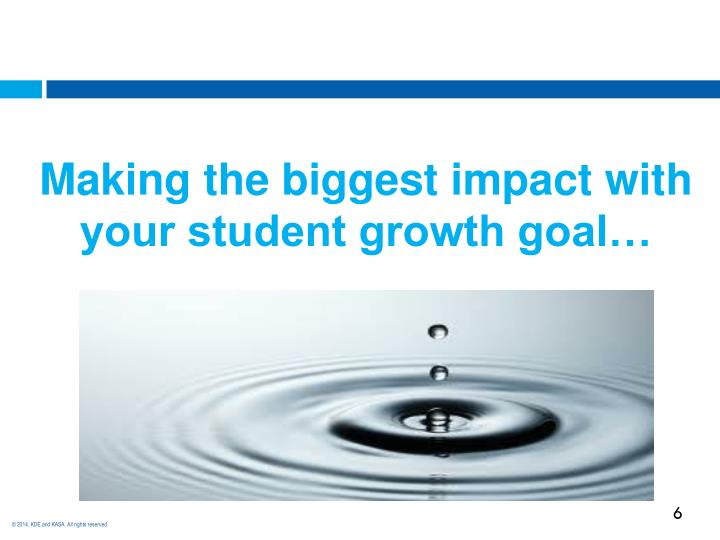 Making the biggest impact with your student growth goal…