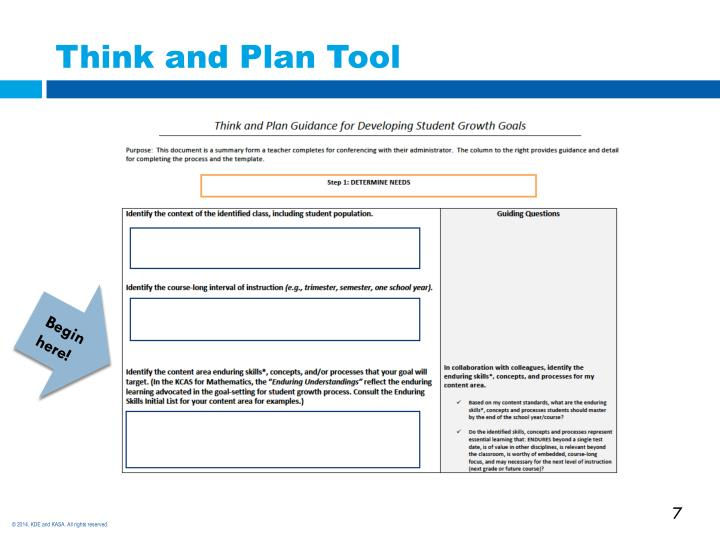 Think and Plan Tool
