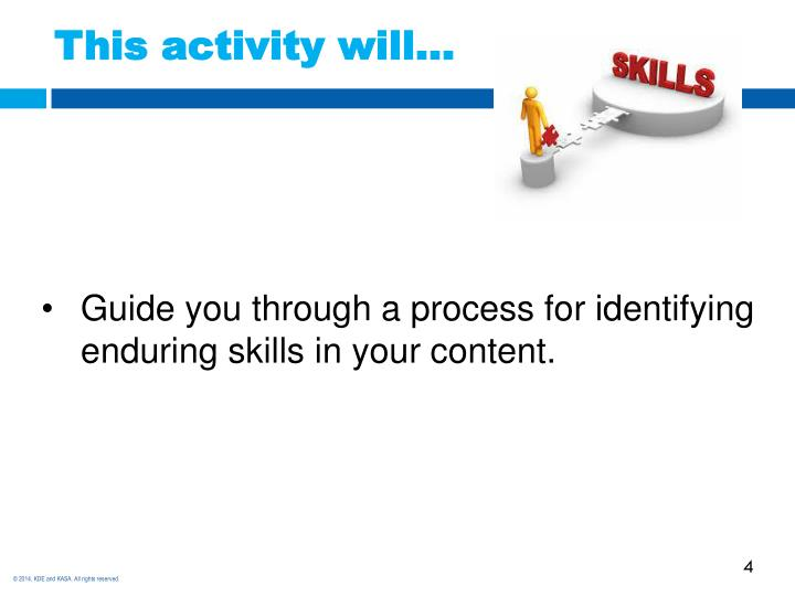 This activity will…