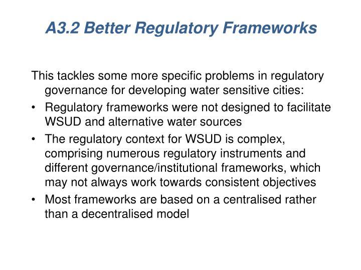 A3.2 Better Regulatory Frameworks
