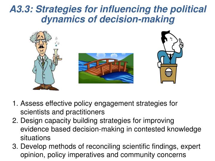 A3.3: Strategies for influencing the political dynamics of decision-making