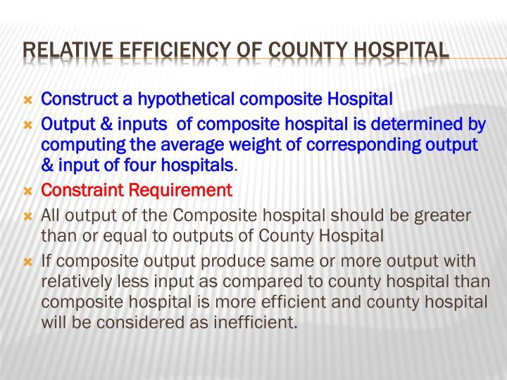 Construct a hypothetical composite Hospital