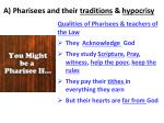 a pharisees and their traditions hypocrisy1