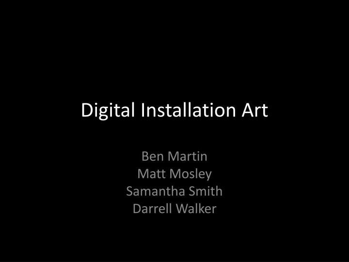 digital installation art n.