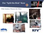 der split the risk kurs2