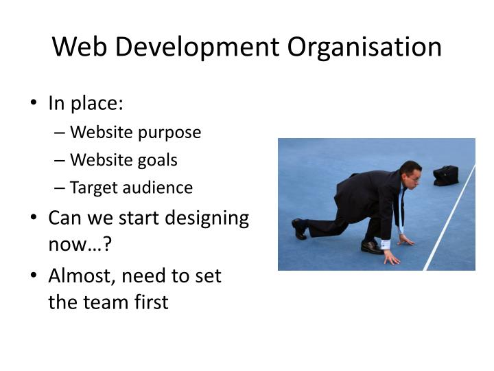 Web d evelopment organisation