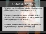 outward ministry