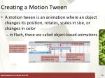 creating a motion tween