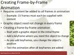 creating frame by frame animation