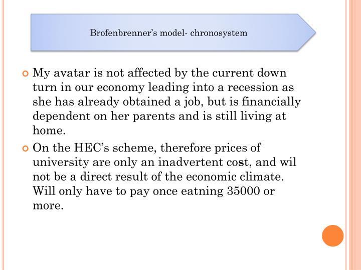 Brofenbrenner's model- chronosystem