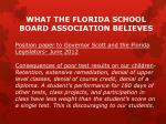 what the florida school board association believes