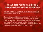 what the florida school board association believes1